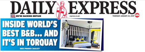 Daily Express, World's Best B&B, The 25 Boutique Torquay, English Riviera